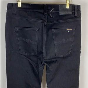 "Nudie Jeans Lean Dean Dry Cold Black Size 33 X 33"""